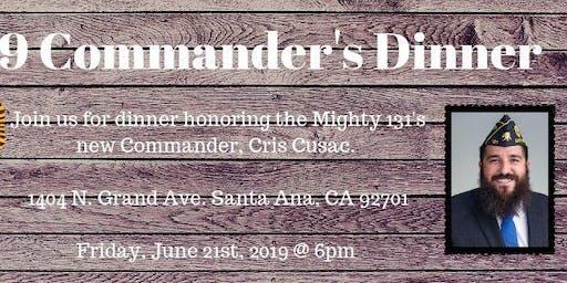2019 Commander's Inauguration Dinner