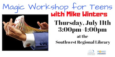 Teen Magic Workshop with Mike Winters.