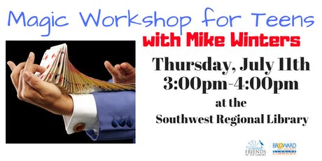 Teen Magic Workshop with Mike Winters.  tickets