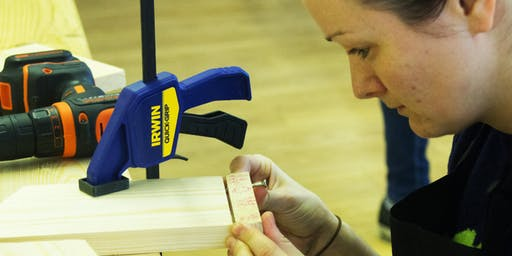 Woodworking Course with Girls with Drills (12-16 years old)