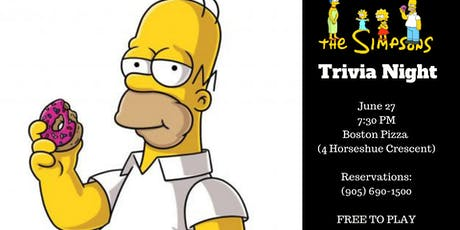 The Simpsons Trivia Night - Waterdown tickets