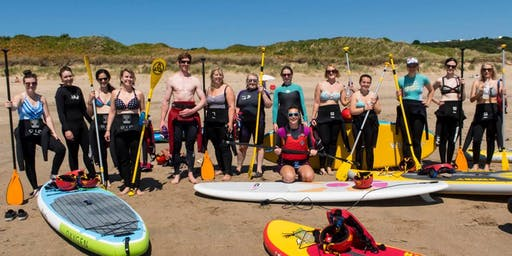 All Female Stand up Paddle Board & Yoga day in Gower