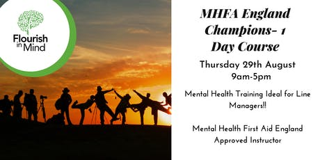 Mental Health First Aid Champions! 1 Day tickets