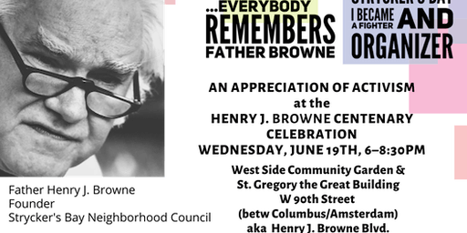 AN APPRECIATION OF ACTIVISM at The Henry J. Browne Centenary Celebration