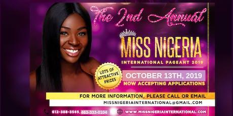 2nd Annual Miss Nigeria International Pageant 2019 tickets