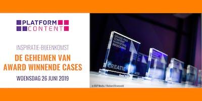 Platform Content themabijeenkomst - De Geheimen van Award Winnende Cases
