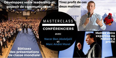 MasterClass CONFÉRENCIERS CASABLANCA 14-15 DÉC 2019 billets