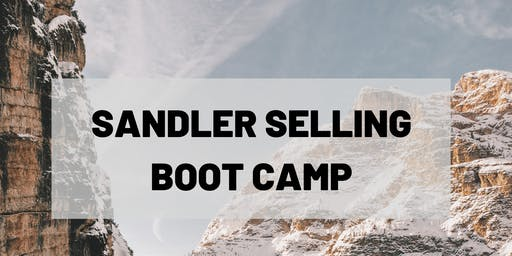 Sandler Training 2-Day Sales Boot Camp, October 3-4th, 2019, 8:30am - 5:00pm