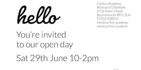Carlton Academy Open Day tickets