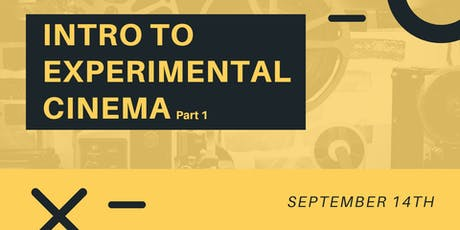 Intro to Experimental Film (Theory & History) tickets