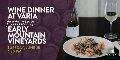 Early Mountain Wine Dinner tickets