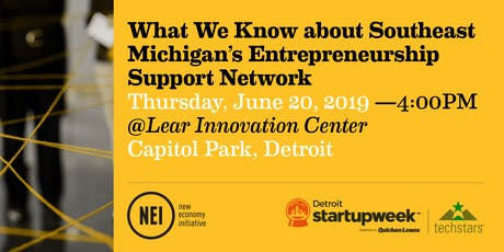 What We Know about Southeast Michigan's Entrepreneurship Support Network tickets
