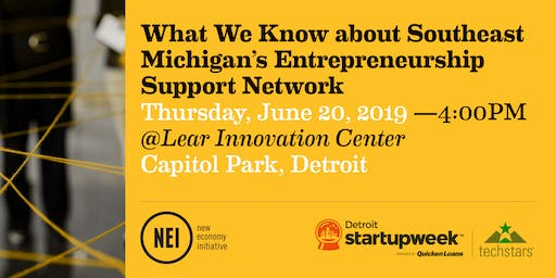 What We Know about Southeast Michigan's Entrepreneurship Support Network