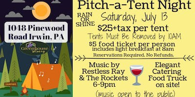 Pitch-a-Tent Night: Annual Campout at Greenhouse Winery!