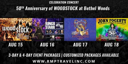 50TH Anniversary of Woodstock Resort & Concert Packages