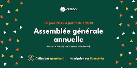 Assemblée générale annuelle du CREDDO billets