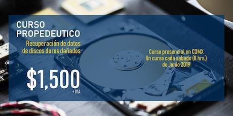 Curso Propedéutico de recuperación de datos de discos dañados entradas