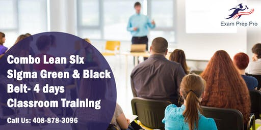 Combo Lean Six Sigma Green Belt and Black Belt- 4 days Classroom Training in Baltimore,MD