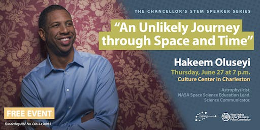Chancellor's STEM Speaker Series: An Unlikely Journey through Space and Time with Hakeem Oluseyi