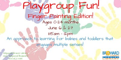 Playgroup Fun! Finger Painting Edition!