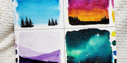 Watercolor landscape workshop