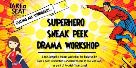 Superhero Sneak Peek tickets