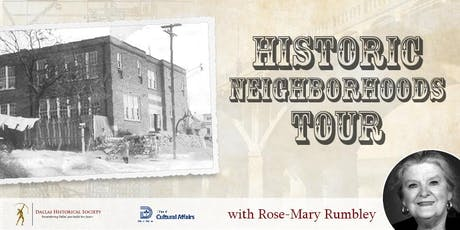 Historic Neighborhoods Tour with Rose-Mary Rumbley tickets