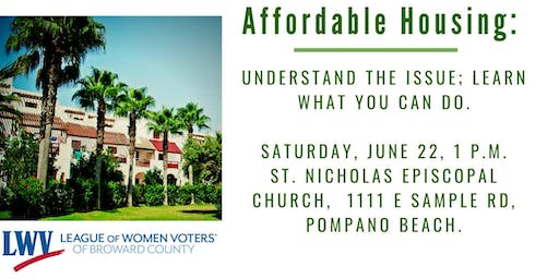 Affordable housing: Understand the issue; learn what you can do.