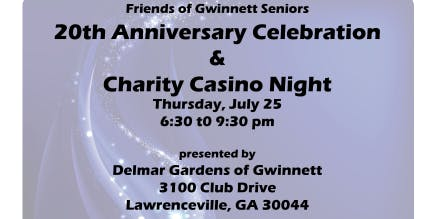 Friends 20th Anniversary Celebration & Charity Casino Night