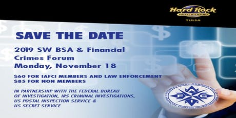 2019 SW BSA & Financial Crimes Forum tickets