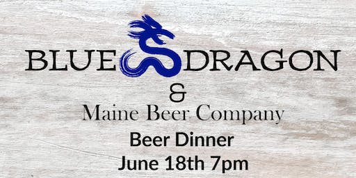 Blue Dragon and Maine Beer Co. Beer Dinner