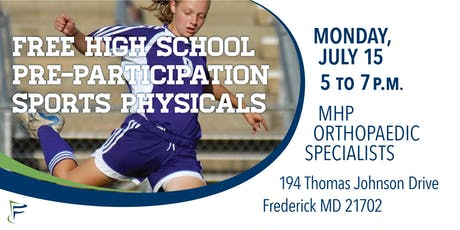 Monocacy Health Partners: Free High School Sports Physicals tickets