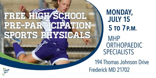 Monocacy Health Partners: Free High School Sports Physicals