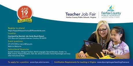 Fairfax County Public Schools, Virginia - Teacher Job Fair tickets