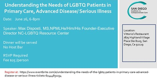 Understanding the Needs of the LGBTQ Patients in Primary Care, Advanced Disease or Serious Illness
