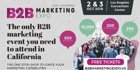 B2B Marketing Expo tickets