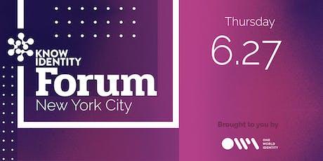 KNOW Identity Forum NYC: Innovation in Identity tickets