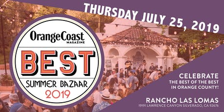 Orange Coast Magazine's Best of 2019 Party tickets