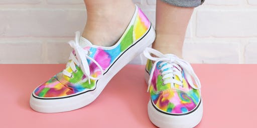 Sharpie Tie Dye Shoes - hosted by 613 DIY Kids