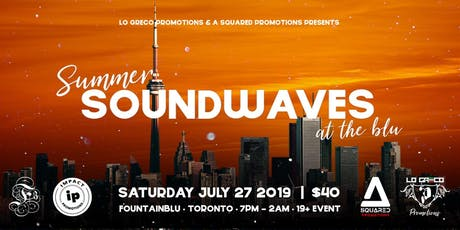 Summer Soundwaves At The Blu tickets