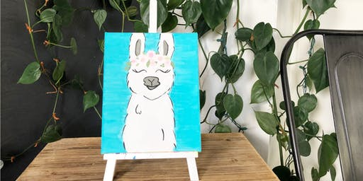 Acrylic Painting for Kids: Llama Painting (Ages 8-14)