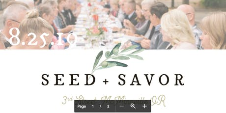 Seed and Savor tickets