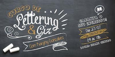 Curso de Lettering e Giz - Com Karymy Gonçalves (27-07-19)