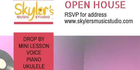 Open House at Skyler's Music Studio, LLC tickets