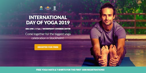 Come together to celebrate The International Yoga Day  in Stockholm!
