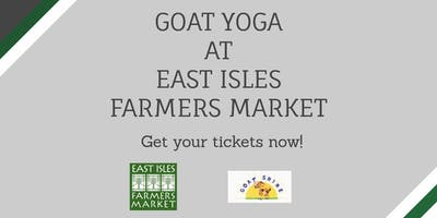 Goat Yoga at East Isles Farmers Market