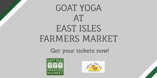 7/25 Goat Yoga at East Isles Farmers Market