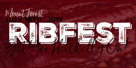 Mount Forest Ribfest tickets