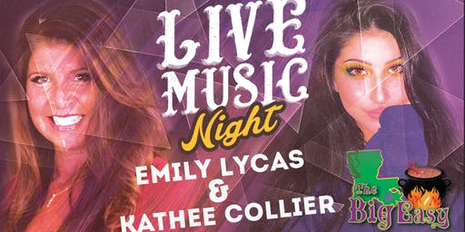Emily Lycas and Kathee Collier Performing Live on The Big Easy Stage
