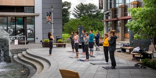 Outdoor Yoga at NoBe Market